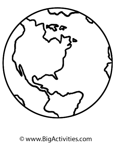 Globe Drawing Simple