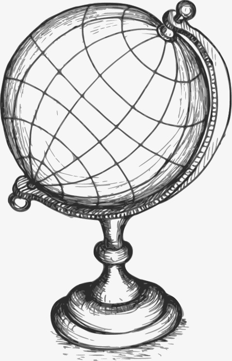 478x743 Globe Sketch, Graphic Design, Globe, Hand Painted Png And Vector