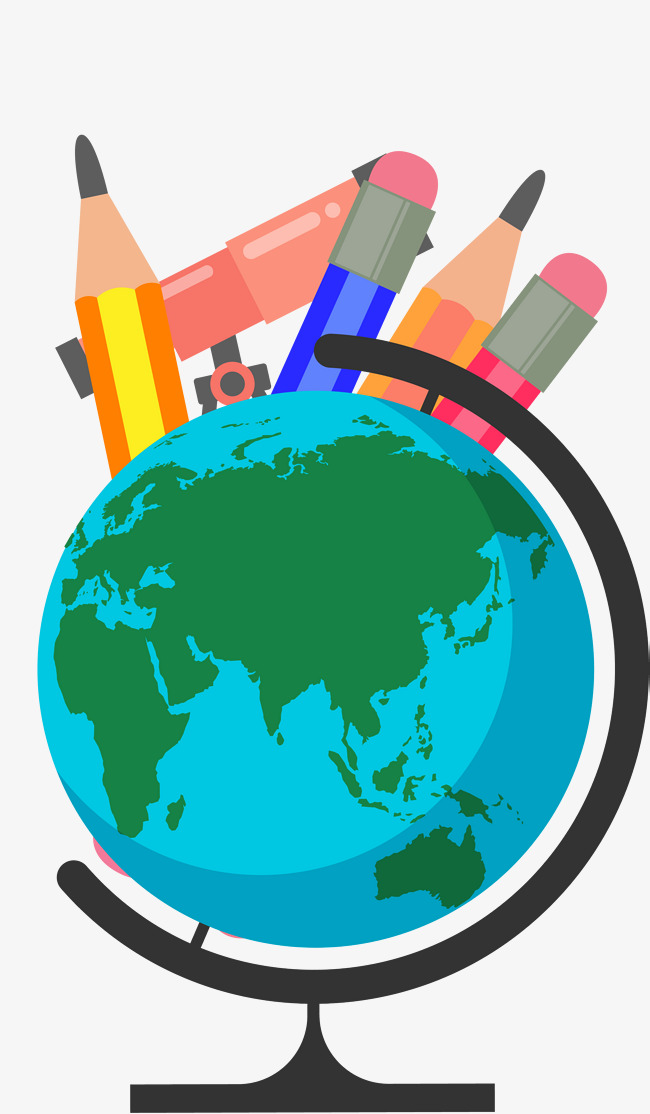 650x1114 Cartoon Hand Drawing Globe, Globe, Hand, School Png And Vector