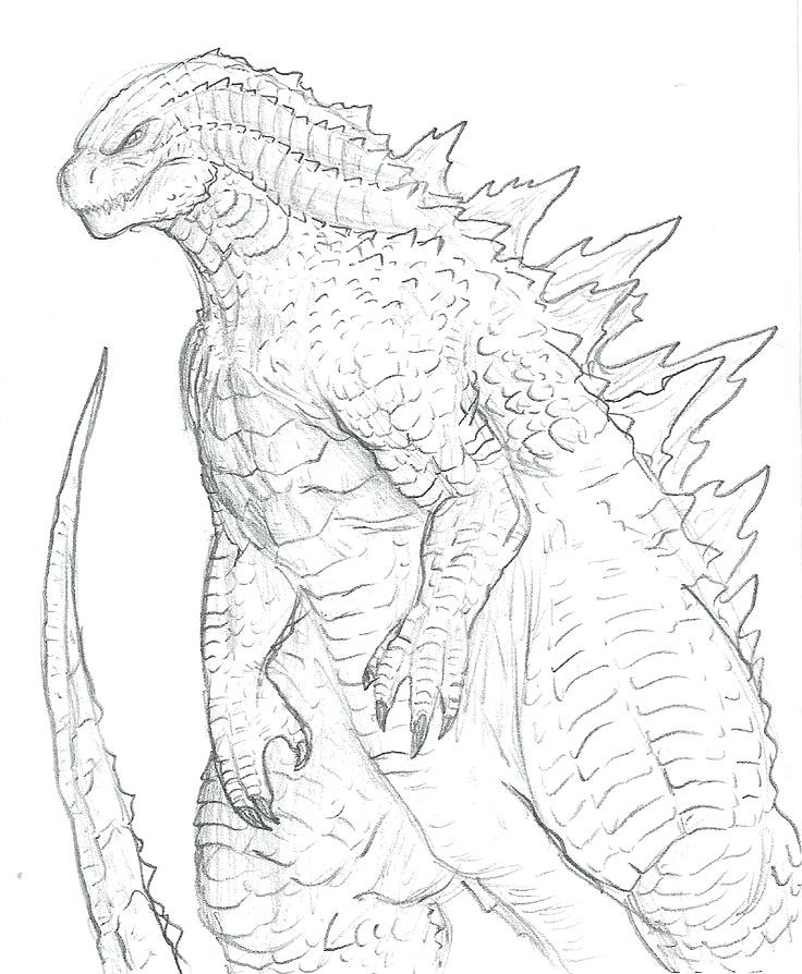 736x894 How To Draw Godzilla How To Draw Godzilla 2014 Step By Step Edt