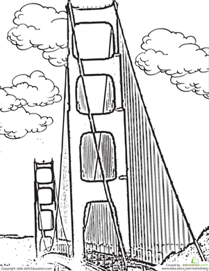Golden Gate Bridge Cartoon Drawing