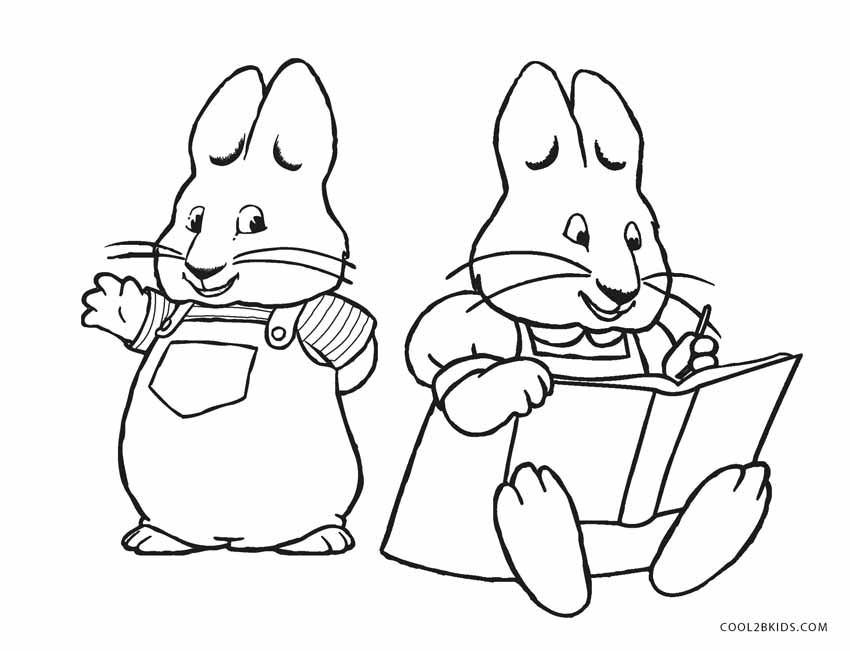 850x651 Free Printable Max And Ruby Coloring Pages For Kids Cool2bkids