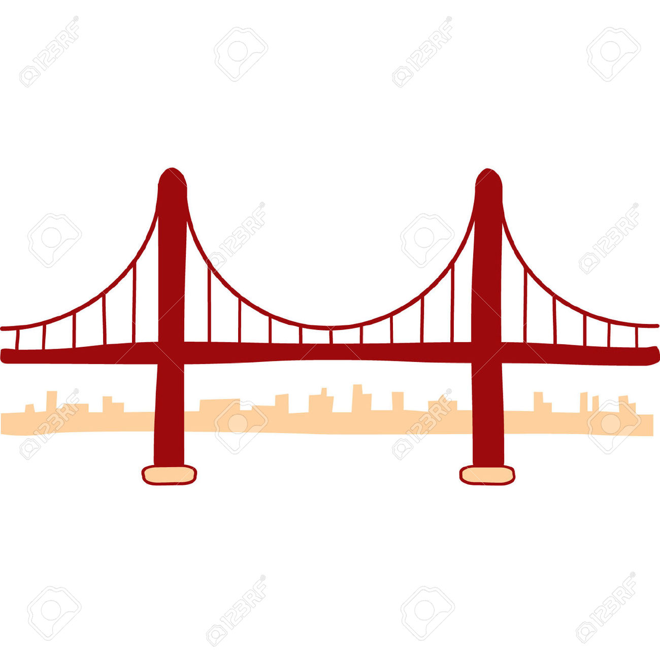 1300x1300 Collection Of Golden Gate Bridge Drawing Simple High Quality