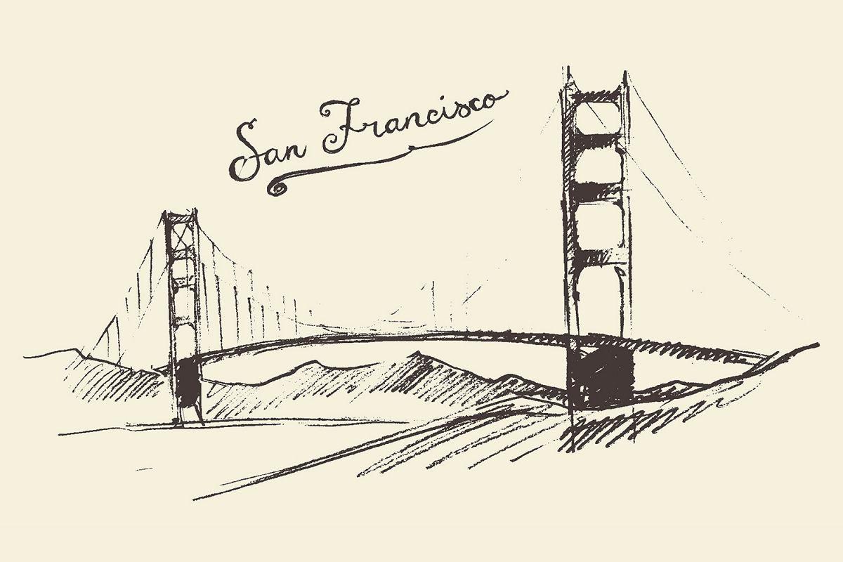 1200x800 Golden Gate Bridge In San Francisco By Design Bundles