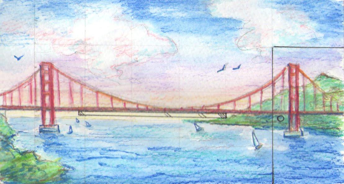 1108x594 Pamela Goodman Illustration Blog Golden Gate Bridge Mural Sketches