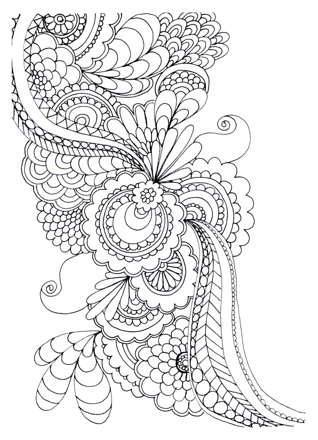 1081x1495 Get Creative With These Abstract Adult Colouring Pages Which Are