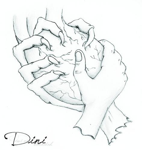472x500 Good Vs Evil (Sketch) By Tea Dewi Nurdini