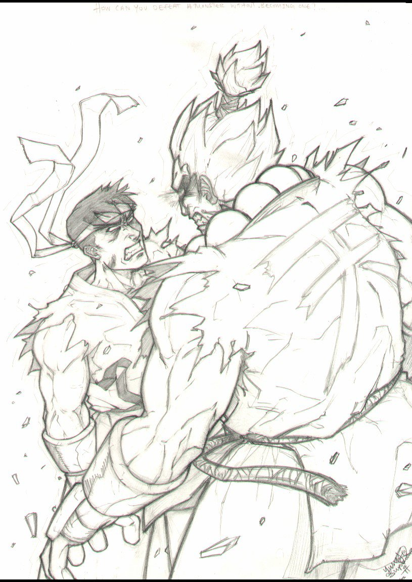 815x1150 Evil Ryu Vs Akuma By Uchiha Yusuf