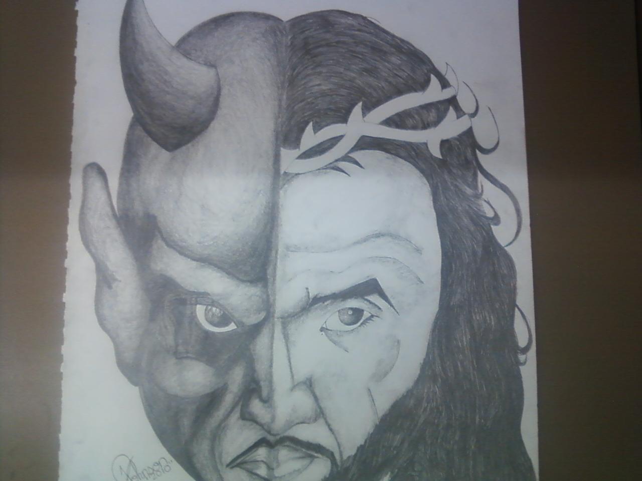 1280x960 Evil Pencil Drawings Good Vs Evil