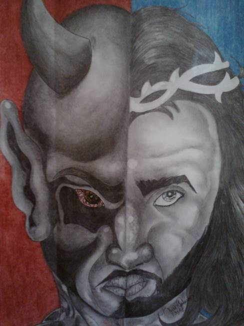 488x650 Stunning Good Vs Evil Drawings And Illustrations For Sale