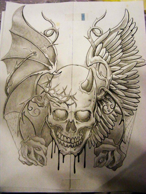 600x800 The 31 Best Good Vs Evil Tattoo Drawings Images