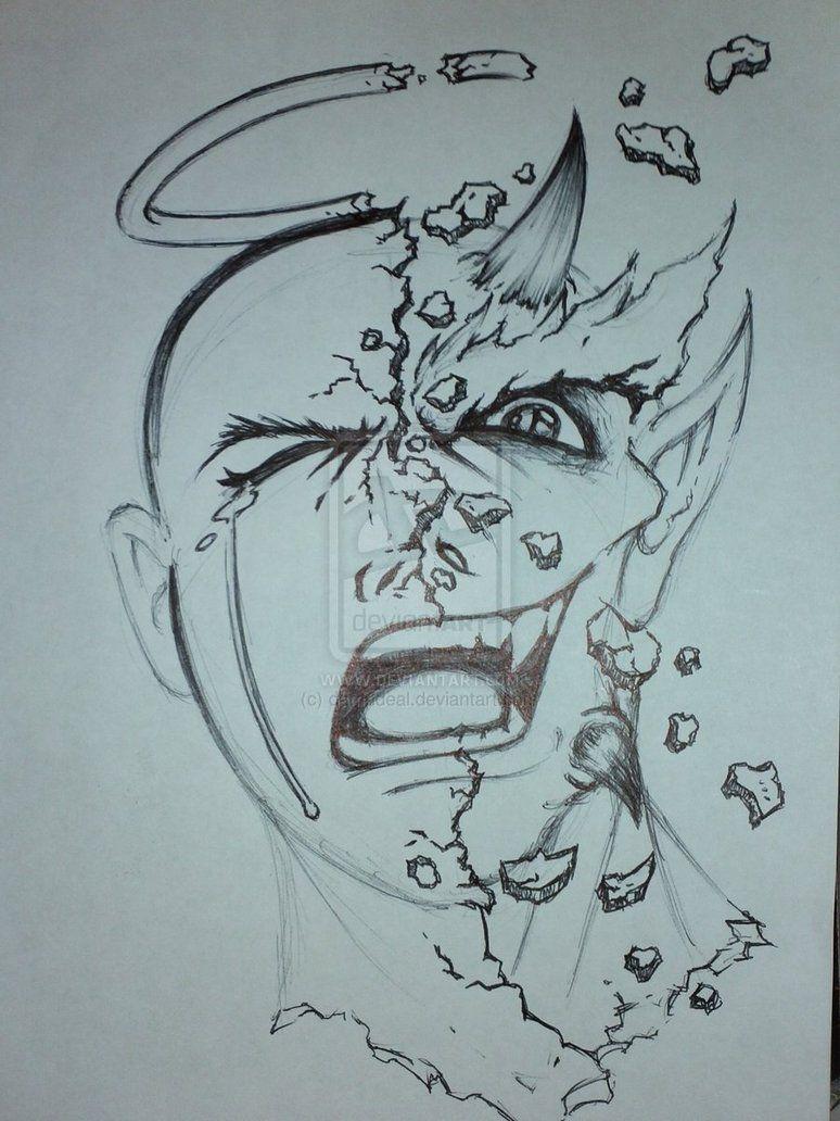 774x1032 Good Vs Evil Tattoos Sketch Tatts Evil Tattoos
