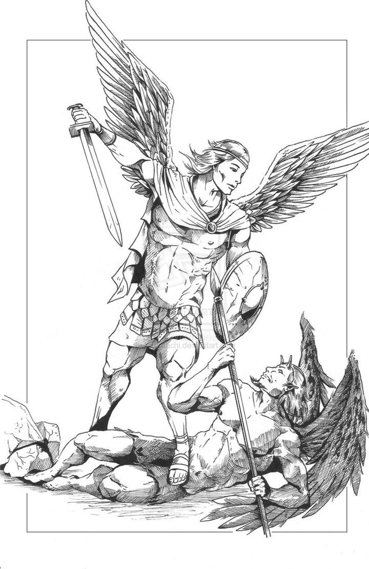 720x1109 Good Vs Evil Tattoo Drawings Sketches Sketch Coloring Page Good