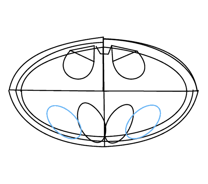 678x600 How To Draw Batman Logo Easy Drawing Guides