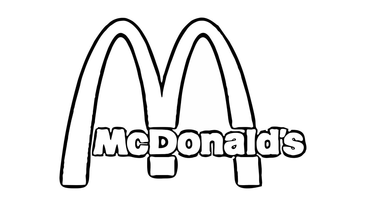 1280x720 How To Draw The Mcdonald's Logo (Symbol)