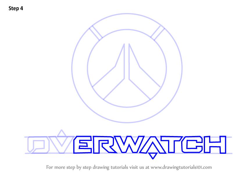 846x600 Learn How To Draw Overwatch Logo (Overwatch) Step By Step