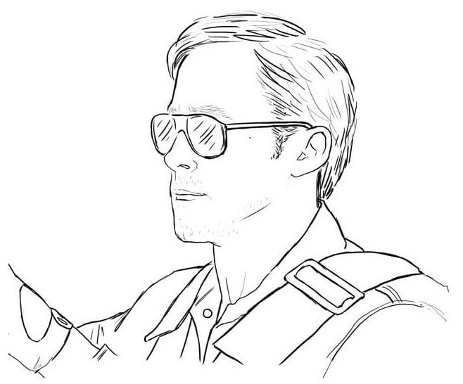 658x546 Ryan Gosling Color Me Good Coloring Pages For Adults
