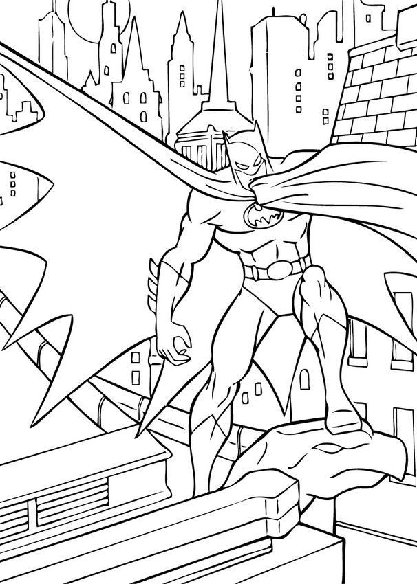 606x850 Gotham City Coloring Pages Inspirational Gotham City Coloring