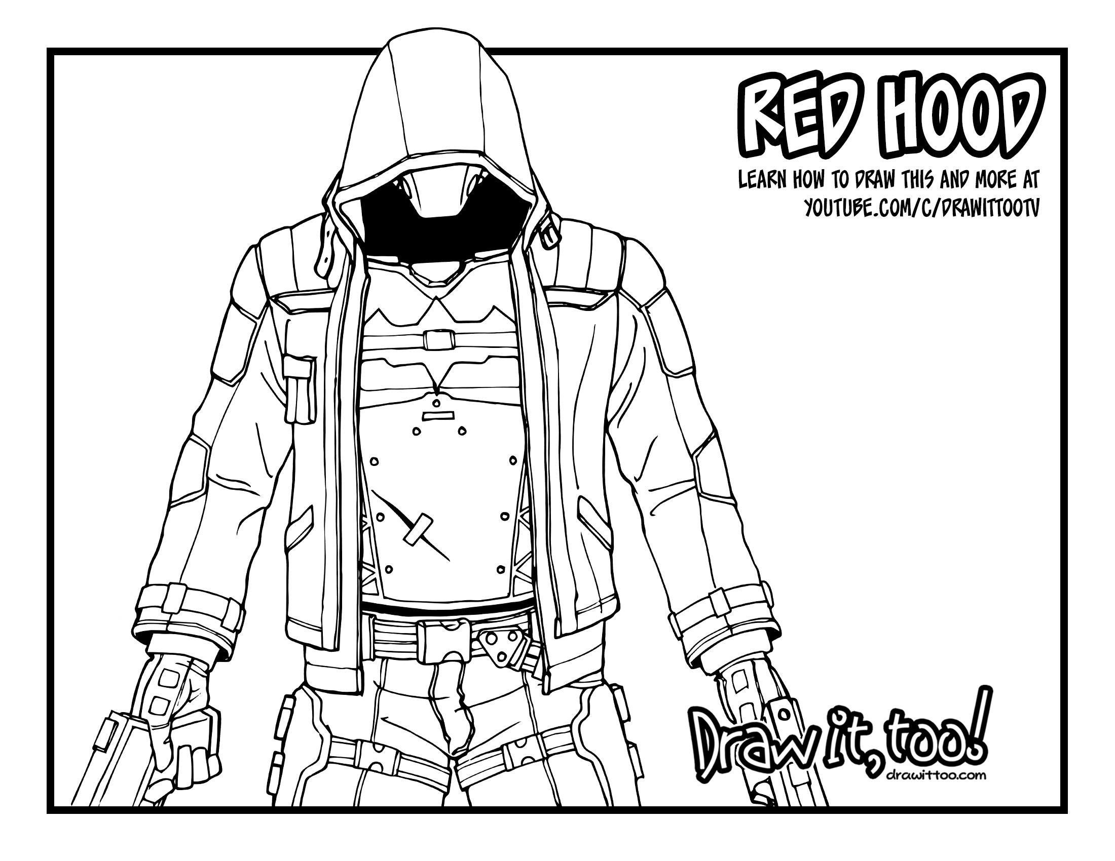2200x1700 Red Hood (Batman Arkham Knight) Tutorial Draw It, Too!