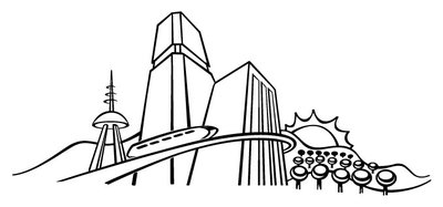 400x187 Collection Of Future City Drawing Easy High Quality, Free