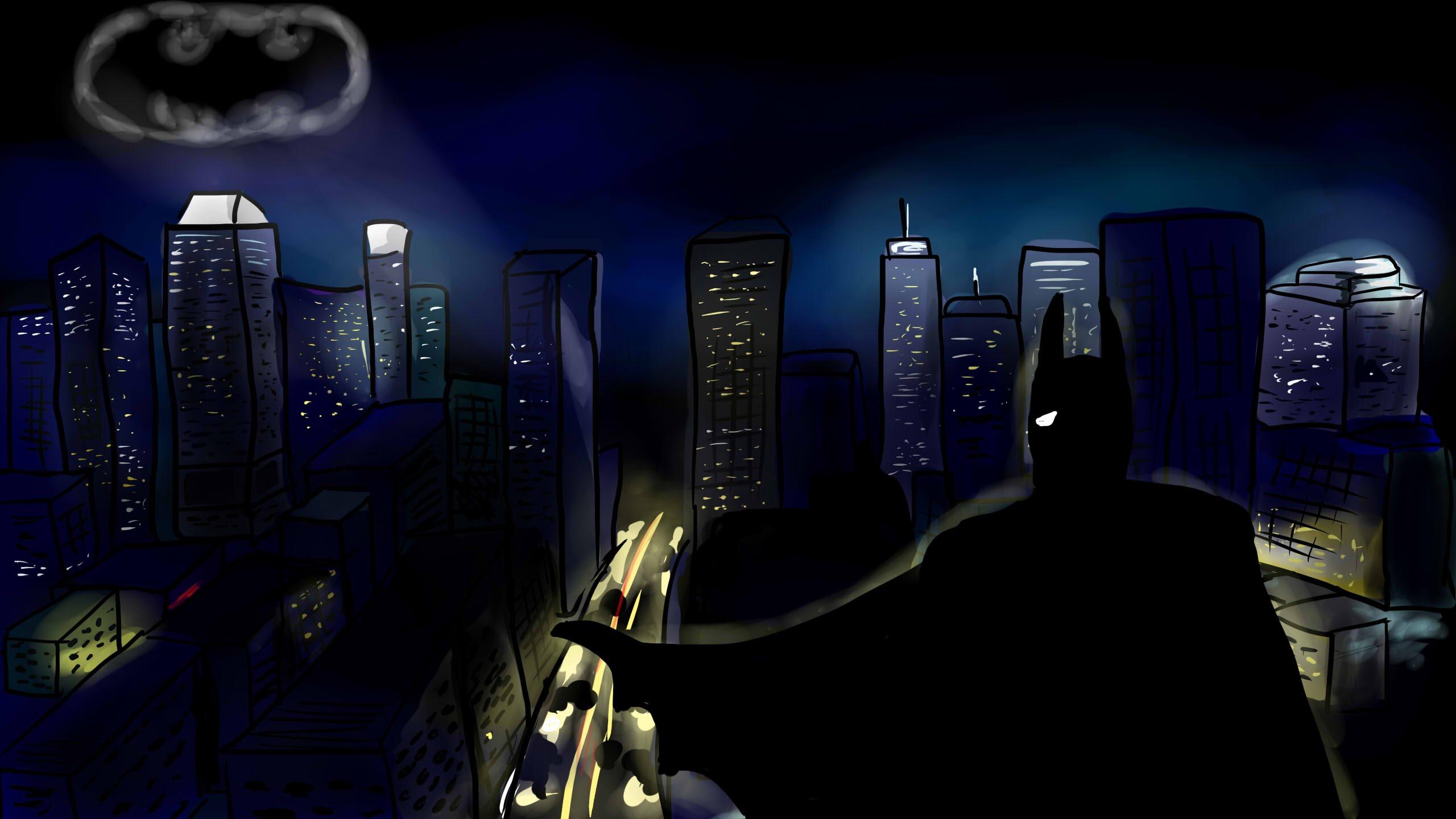 2560x1440 Gotham City
