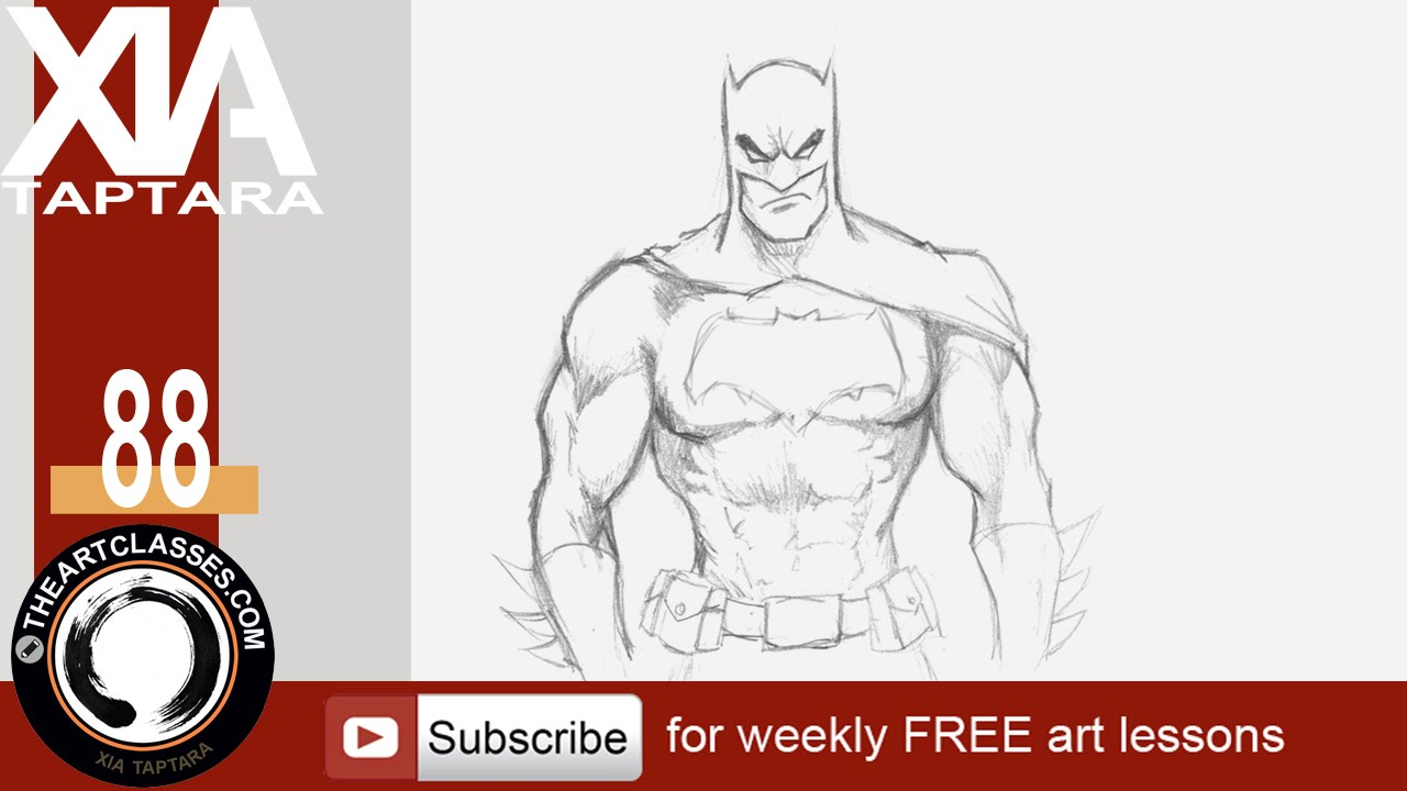 1280x720 How To Draw Batman, Dark Knight