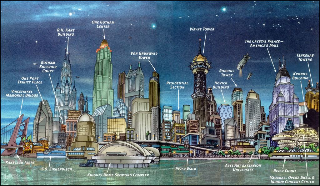 1024x595 Gotham City Skyline Batman Bedroom Gotham City
