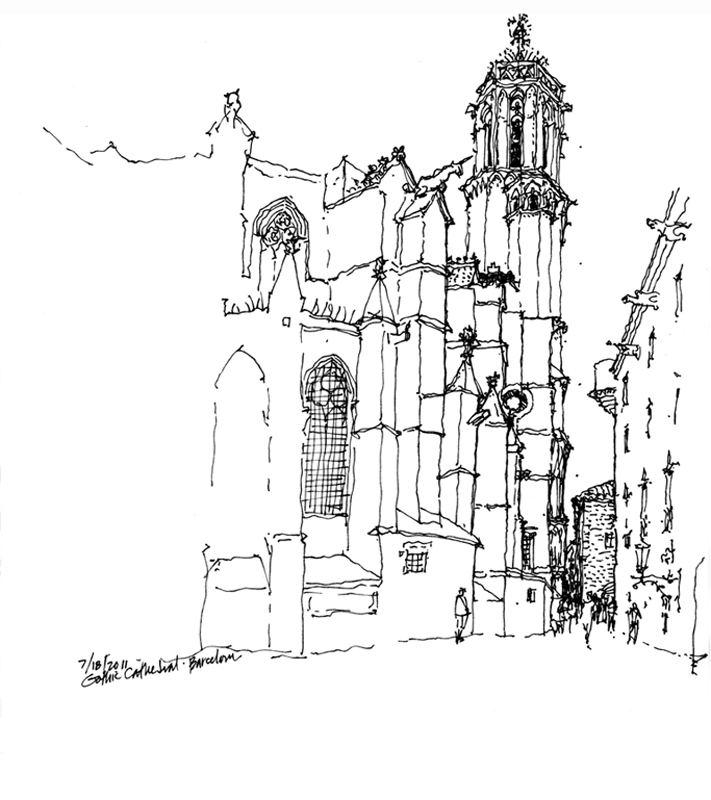 500x563 Gothic Architecture 711x800 June 2012 SeeingThinkingDrawing