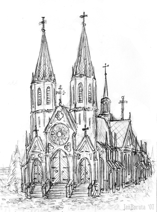 550x742 28 Collection Of Gothic Church Drawing High Quality Free