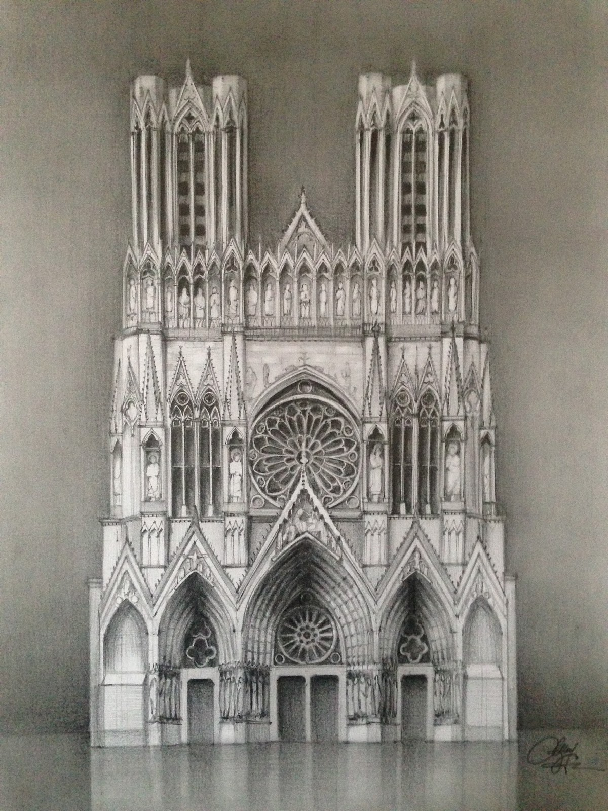 1200x1600 Gothic Architecture Drawing In Excellent IMG 9665 Lostarkco