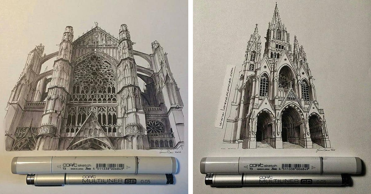 1200x628 Incredible Miniature Architectural Drawings By Lorenzo Concas