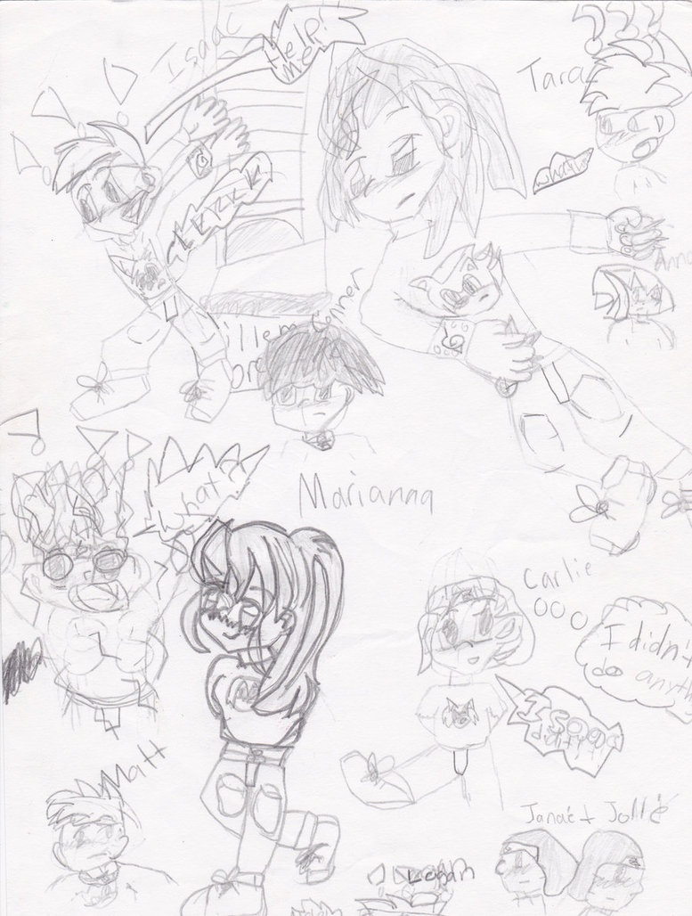 777x1028 My First Anime Drawings (5th Grade) By Tarabell01