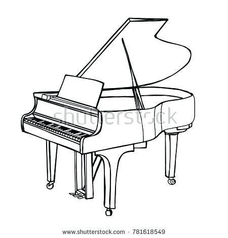 450x470 Piano Drawing Baby Grand Piano Drawing Piano Drawing Tutorial