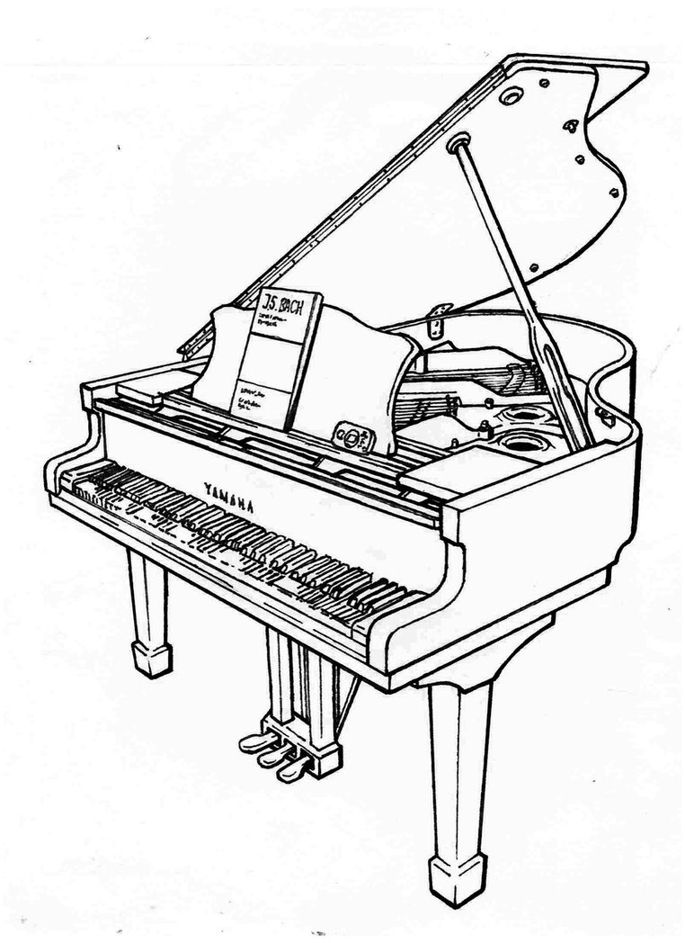 762x1048 Yamaha C3 (1995) Grand Piano By Nyandgate