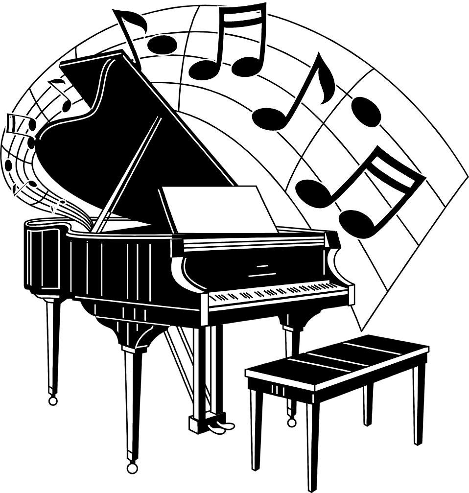 958x1007 Collection Of Grand Piano Clipart Free High Quality, Free