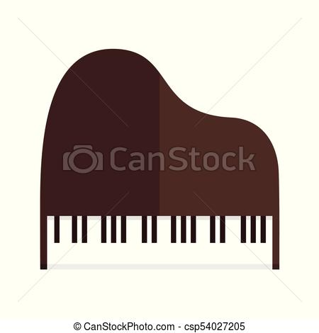 450x470 Simple Grand Piano Top View Vector Illustration Graphic Vector