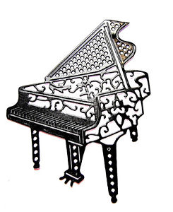 245x300 8 Grand Piano Die Cuts, Music, Keyboard, Musical, Tattered Lac