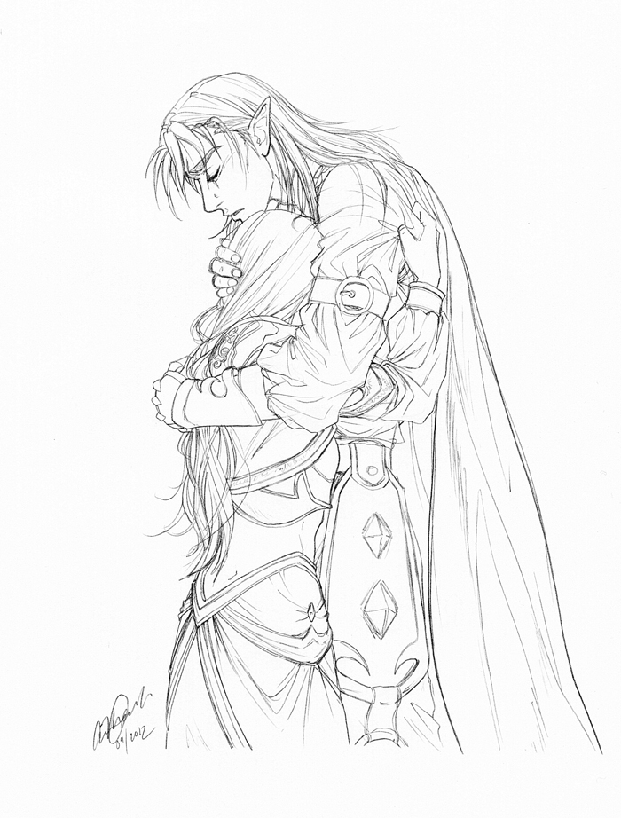 700x922 Jaina And Kalecgos Grief And Love By Anniecoleptic