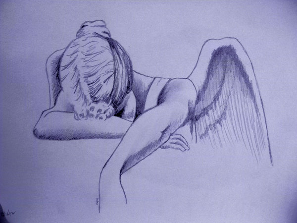 600x450 Angel Of Grief Drawing ~cami Neimann By Pallet1