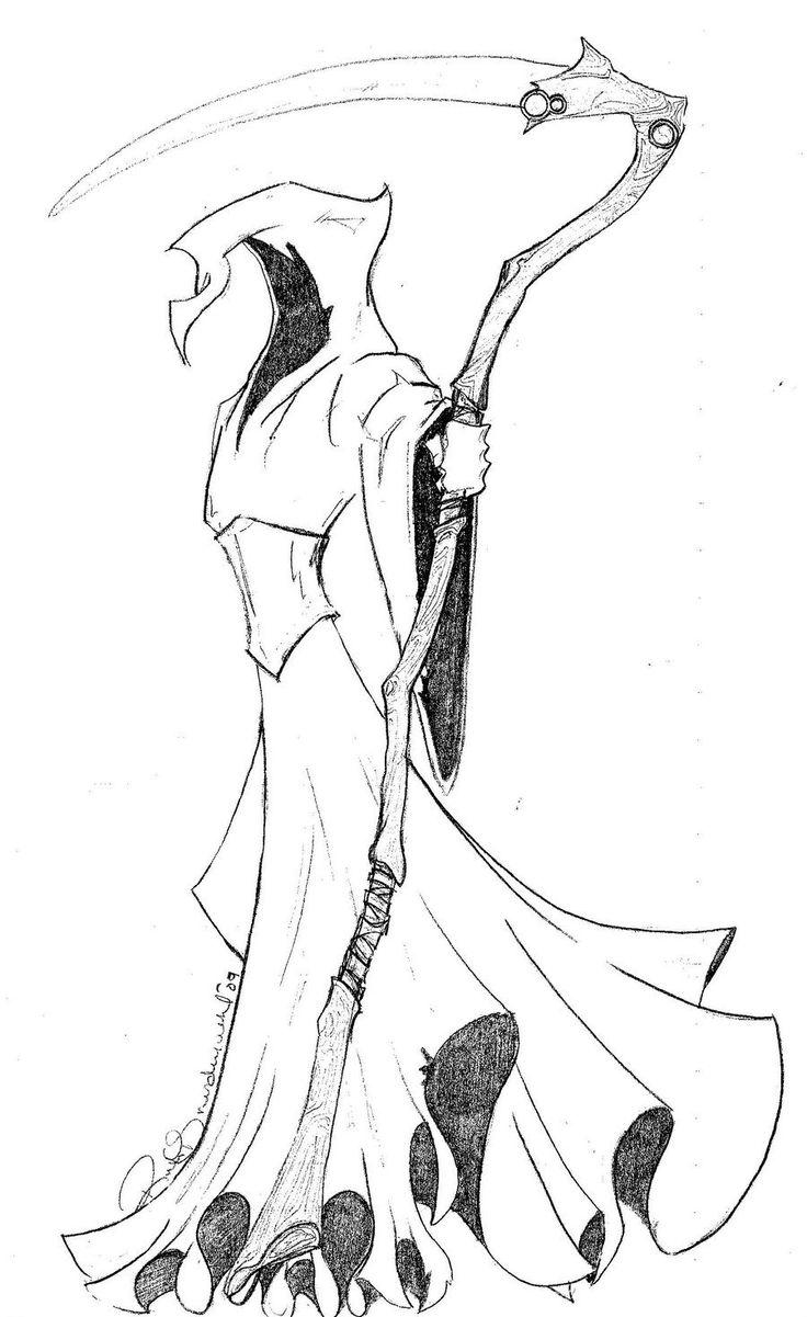 Grim Reaper Drawing In Pencil