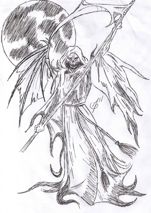 600x845 Drawn Grim Reaper Awesome Pencil And In Color Reap On Grim Reaper