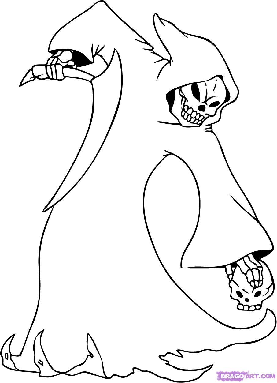906x1251 Grim Reaper Cartoon Drawings 6. How To Draw A Cartoon Grim Reaper