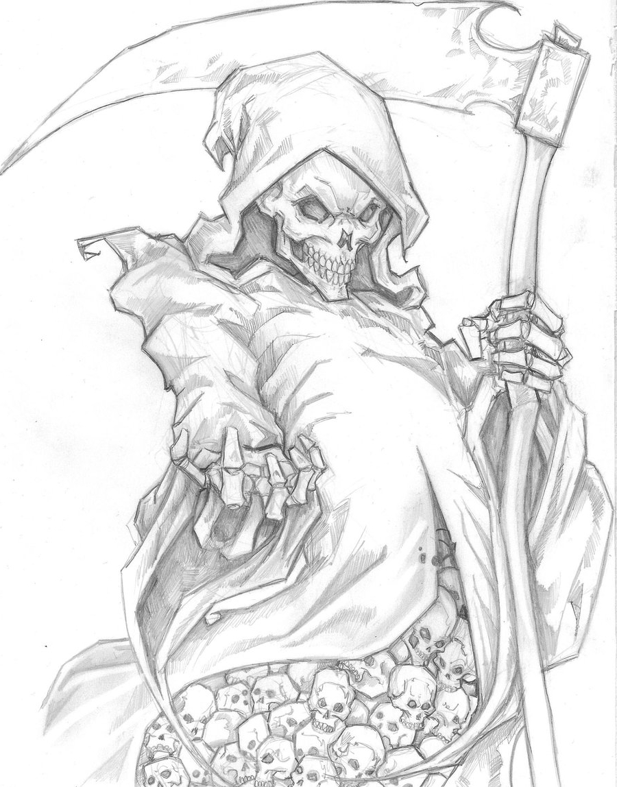 grim reaper drawing in pencil at getdrawings com free for personal