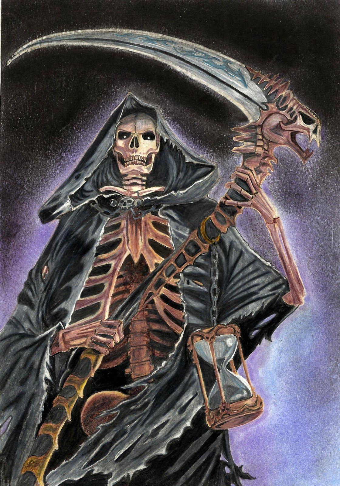1120x1600 Female Grim Reaper Portfolio Grim Reaper Colour Pencil Grim