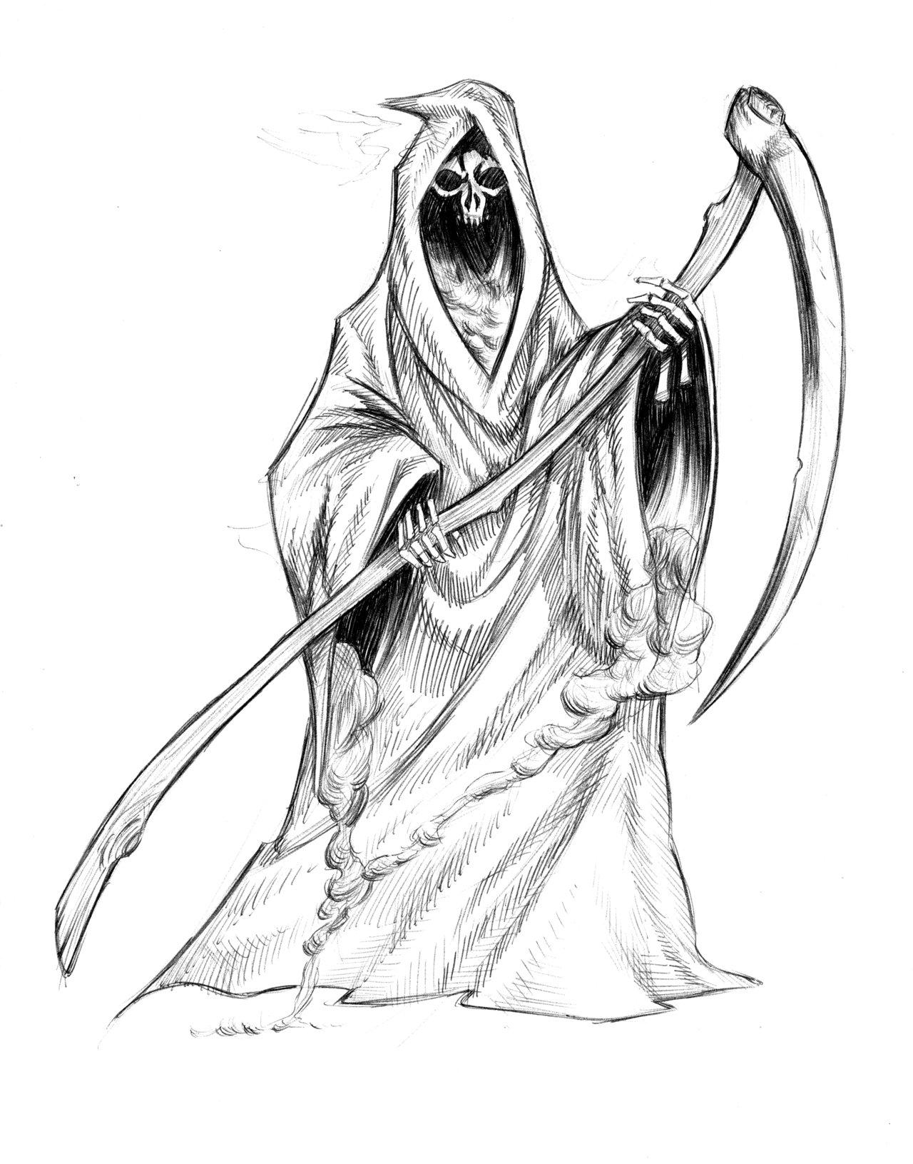 1280x1631 Draw Grim Reaper Drawn Grim Reaper Detailed