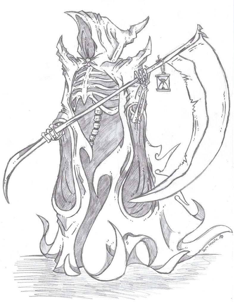787x1016 Drawing Of Grim Reaper Drawn Grim Reaper Wing Sketch