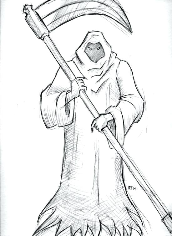 550x754 How To Draw The Grim Reaper And Grim Reaper By Grim Reaper Drawing
