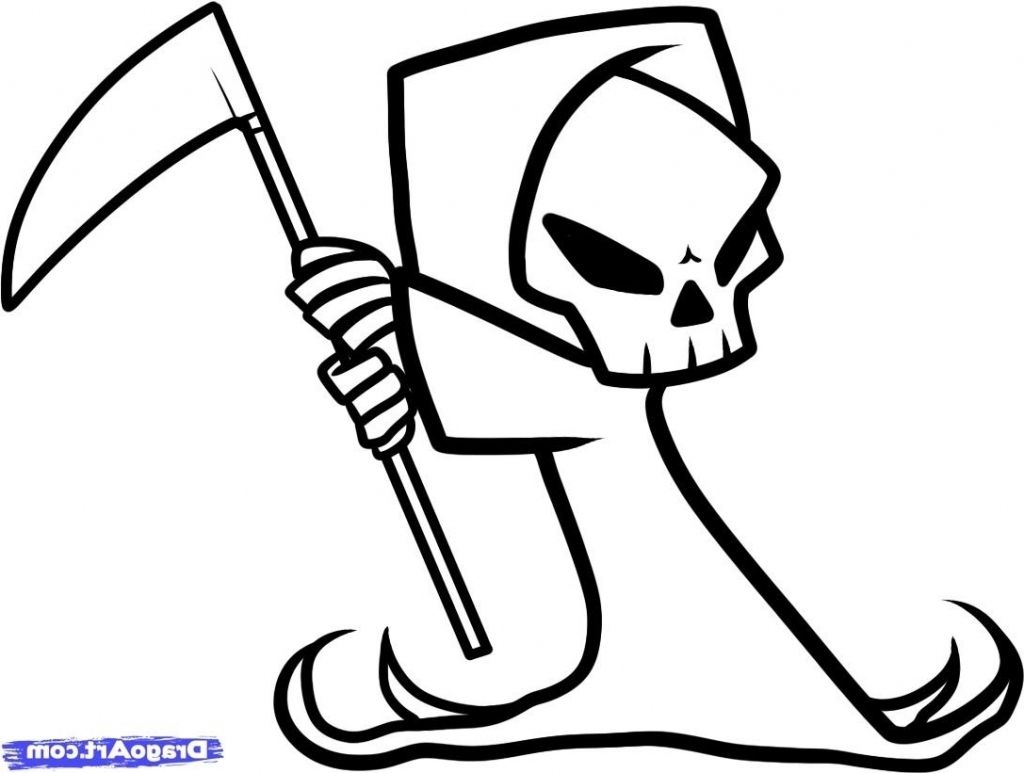 1024x773 Draw Grim Reaper How To Draw A Grim Reaper Face, Stepstep, Tattoos
