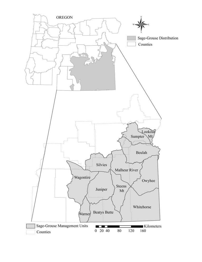 850x1102 Sage Grouse Management Units, County Boundaries, And Current