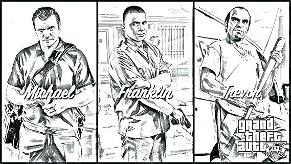 569x320 Gta 5 Coloring Pages Fun V Coloring Pages Grand Theft Auto 5